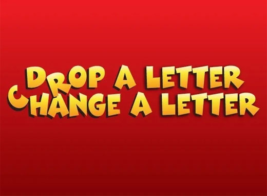 Drop A Letter Change A Letter Game